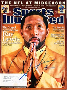 Ray Lewis autographed Baltimore Ravens 2006 Sports Illustrated