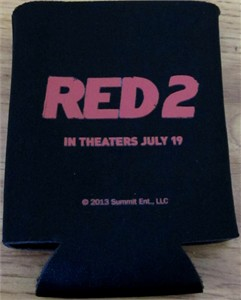 Red 2 movie 2013 Comic-Con promo beverage foam coozie