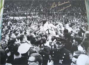 Red Auerbach & John Havlicek autographed Boston Celtics 1965 NBA Championship 16x20 poster size photo (TriStar)