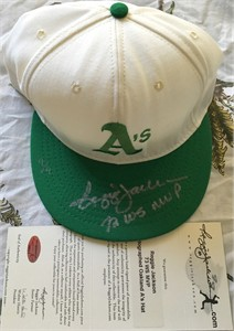 Reggie Jackson autographed Oakland A's authentic throwback cap or hat inscribed 73 WS MVP #/9
