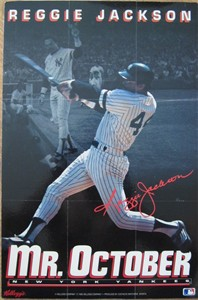 Reggie Jackson New York Yankees Mr. October 1993 Kellogg's mini poster mounted on foamcore
