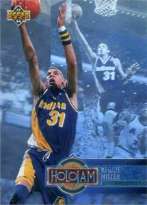 Reggie Miller Pacers 1993-94 Upper Deck Holojam hologram card