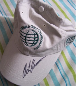 Retief Goosen autographed World Golf Championships cap or hat