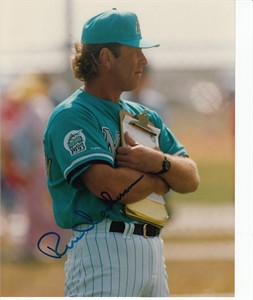Rene Lachemann autographed Florida Marlins 8x10 photo