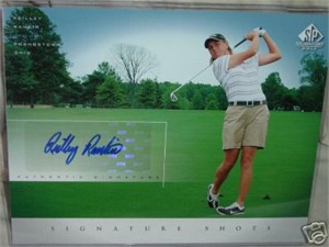 Reilley Rankin certified autograph 2004 SP Signature Golf 8x10 photo card