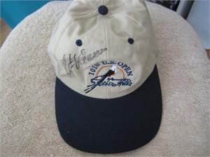 Retief Goosen autographed 2001 U.S. Open golf cap or hat