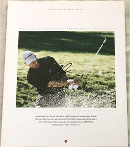 Retief Goosen autographed 10x13 golf book photo
