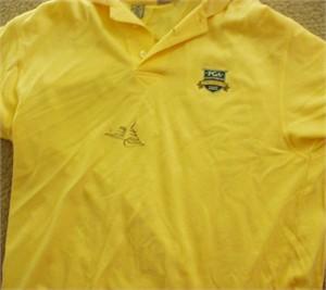 Rich Beem autographed 2002 PGA Championship golf shirt