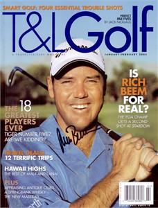 Rich Beem autographed T&L Golf magazine cover