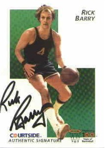 Rick Barry certified autograph 1992 Courtside Flashback card