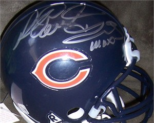 Richard Dent & Mike Singletary autographed Chicago Bears mini helmet