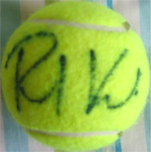 Richard Krajicek autographed tennis ball