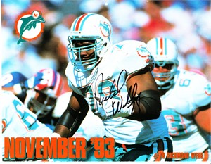 Richmond Webb autographed Miami Dolphins 1993-1994 calendar page photo