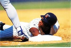 Rickey Henderson 1996 San Diego Padres postcard