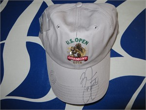 Rickie Fowler autographed 2016 U.S. Open golf cap or hat