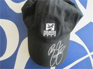 Rickie Fowler autographed Farmers Insurance Open black golf cap or hat