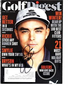 Rickie Fowler autographed 2012 Golf World magazine