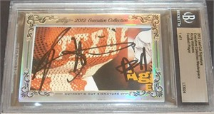 Ricky Williams certified autograph 2012 Leaf Executive Masterpiece Cut Signature card #1/1