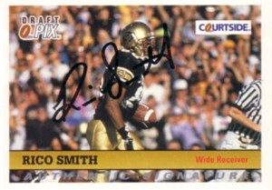 Rico Smith Colorado Buffaloes certified autograph 1992 Courtside card