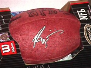 Ricky Williams autographed NFL game model football