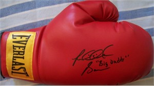Riddick Bowe autographed Everlast boxing glove inscribed Big Daddy