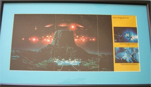 Richard Dreyfuss autographed Close Encounters of the Third Kind movie poster matted & framed