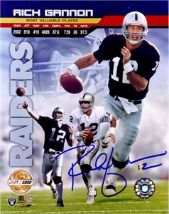 Rich Gannon autographed Oakland Raiders 8x10 2002 NFL MVP photo