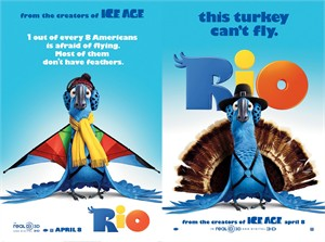 Rio mini movie poster set (2)