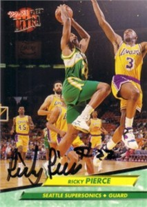 Ricky Pierce autographed Seattle Sonics 1992-93 Ultra card