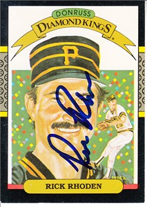 Rick Rhoden autographed Pittsburgh Pirates 1987 Donruss Diamond King card