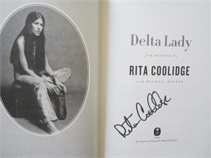 Rita Coolidge autographed Delta Lady first edition hardcover book