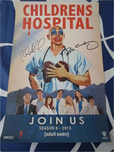 Rob Corddry & Rob Huebel autographed Children's Hospital 2014 Comic-Con poster