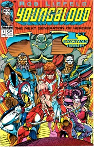 Rob Liefeld autographed 1992 Youngblood comic book issue #1