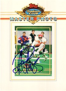 Rob Moore autographed New York Jets 1993 Stadium Club 5x7 Master Photo