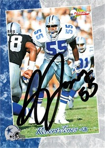 Robert Jones autographed Dallas Cowboys 1993 Pacific card
