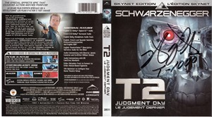 Robert Patrick autographed Terminator 2 Judgment Day movie Blu-ray cover