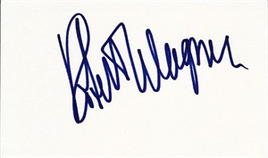 Robert Wagner autographed index card