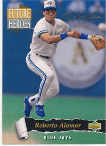 Roberto Alomar 1993 Upper Deck Future Heroes insert card