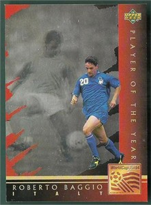 Roberto Baggio 1994 Upper Deck Play of the Year hologram insert card