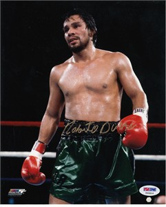 Roberto Duran autographed 8x10 boxing photo PSA/DNA