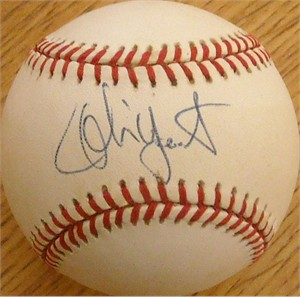 Robin Yount autographed American League baseball