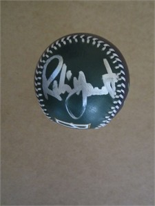 Robin Yount autographed Milwaukee Brewers leather logo baseball
