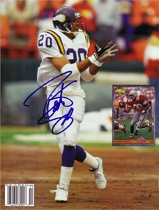 Robert Smith autographed Minnesota Vikings Beckett back cover