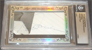 Rod Carew certified autograph 2012 Leaf Executive Masterpiece Cut Signature card #1/1