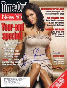 Rosario Dawson autographed sexy 2002 Time Out New York magazine cover
