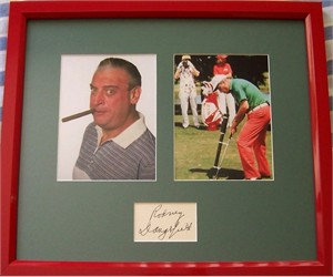 Rodney Dangerfield autograph matted & framed with Caddyshack photos