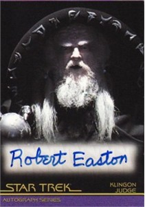 Robert Easton Star Trek certified autograph card