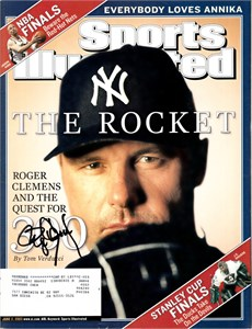 Roger Clemens autographed New York Yankees 2001 Sports Illustrated