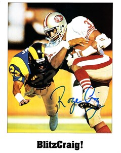 Roger Craig autographed San Francisco 49ers 8x10 photo
