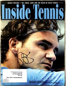 Roger Federer autographed 2005 Inside Tennis magazine